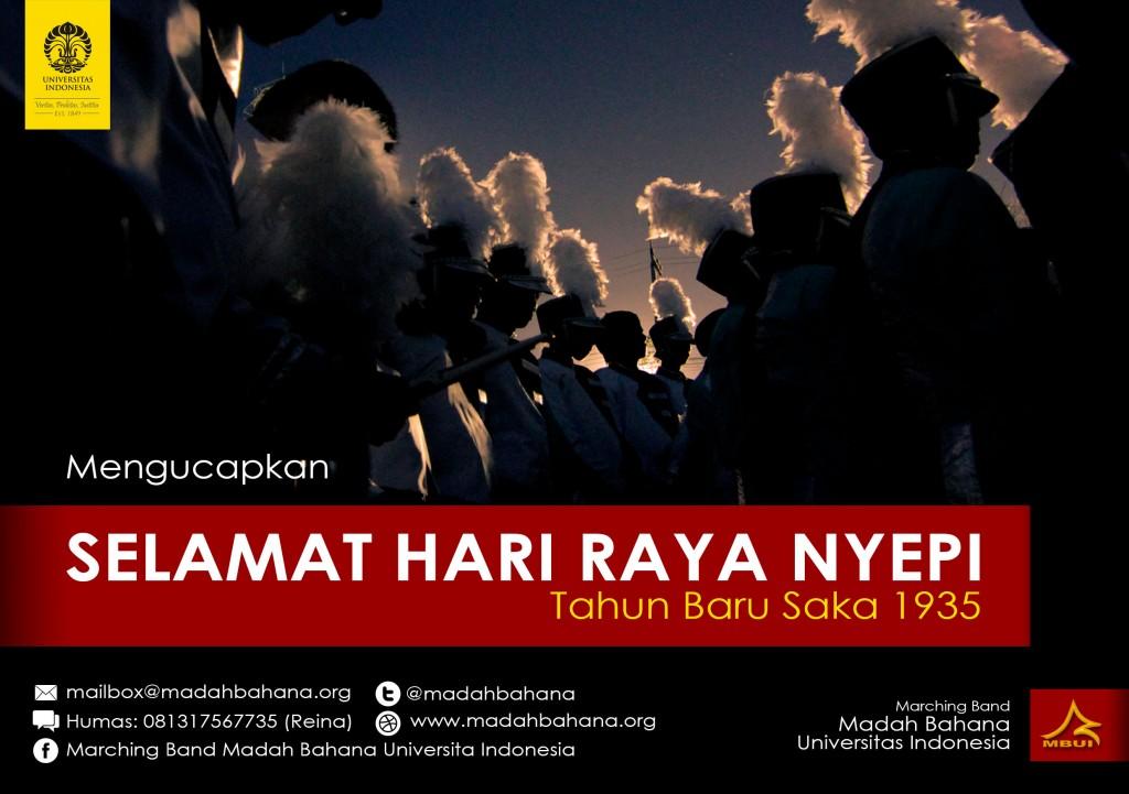 Postcard - Hari Raya Nyepi Saka 1935