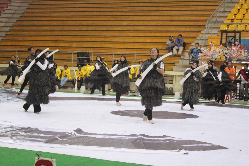 Uji Coba Lapangan Color Guard Contest