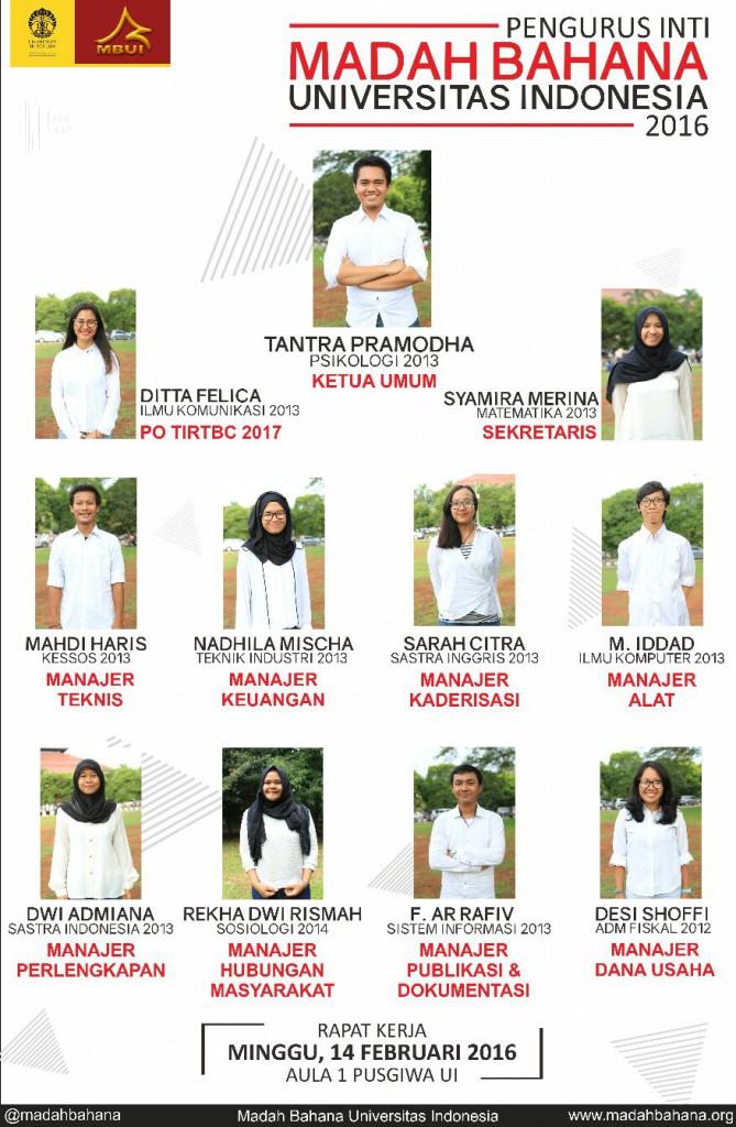 Pengurus Inti MBUI 2016