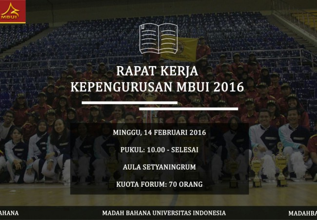 Raker Kepengurusan MBUI 2016