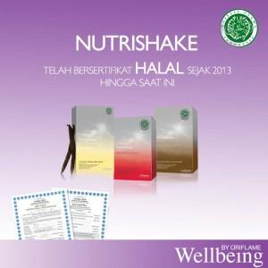 Nutrishake sertifikasi Halal